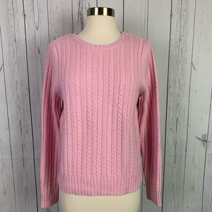 Hanna Andersson | pink cable knit sweater